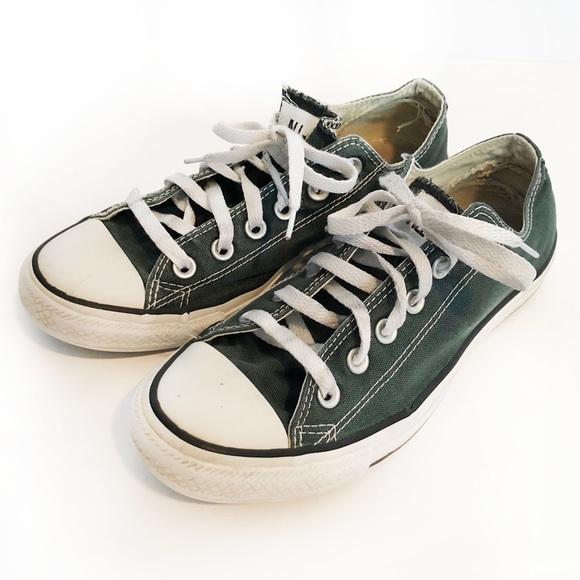 Converse Other - CONVERSE Dark Green Lowtops Men Size 8   Womens 10 16444c600
